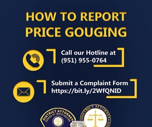 DA'S BUREAU OF INVESTIGATION SETS UP HOTLINE NUMBER  TO REPORT POSSIBLE PRICE GOUGING