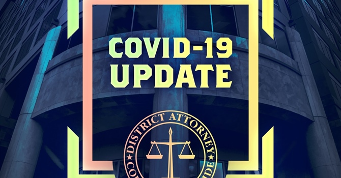 DA'S OFFICE SUSPENDS NORMAL COURT OPERATIONS  AND REDUCES OFFICE HOURS DUE TO COVID-19 HEALTH CRISIS