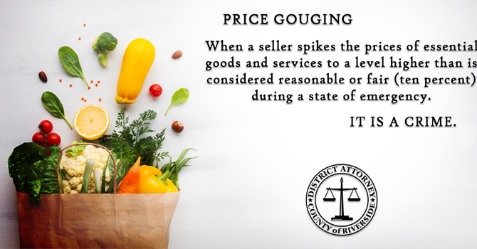 DA HESTRIN ISSUES WARNING TO PRICE GOUGERS  DURING THE CURRENT STATE OF EMERGENCY